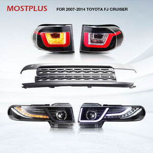 2017 Led Headlights And Tail Lights w Grille Fit Toyota Fj Cruiser 4 0 07 14