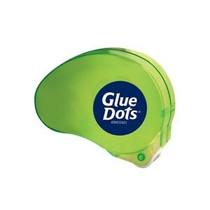 dot N Go Removable Glue Dots Dispenser Green 6 case