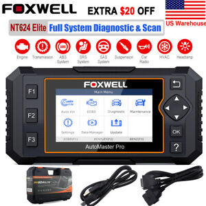 Foxwell Nt624 Elite All System Auto Diagnostic Tool Obd2 Scanner Car Code Reader