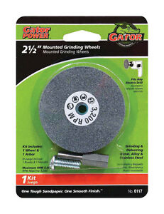 Ali Mounted Grinding Wheel For Metal Steel1 4 Arbor Fits Drill 2 1 2 Inch