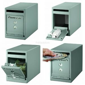Safe With Drop Slot Solid Steel Deposit Box Security Office Money Floor Mount