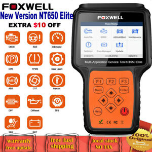 Obd2 Automotive Scanner Foxwell Nt630pro Abs Srs Airbag Sas Diagnostic Scan Tool