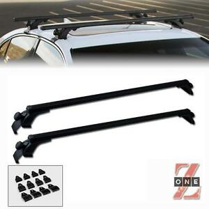 Universal 50 Black Window Frame Roof Top Rail Rack Tube Cross Bars