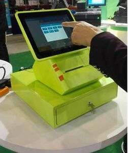 New Android Pos System All In One With Printer Touch Screen Warranty