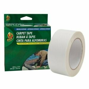 Duck Indoor outdoor Double sided Carpet Tape 1 88 Width X 75 Ft Length