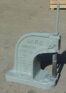 Dake 0 Arbor Press 1 1 2 Ton Used