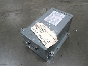 Sebco 120 Vac Low Voltage Transformer Model 1027 24