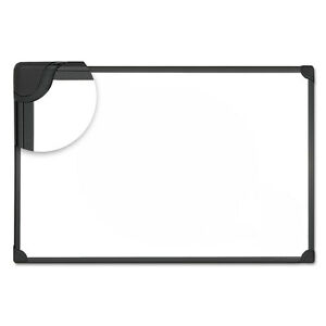 design Series Magnetic Steel Dry Erase Board 36 X 24 White Black Frame