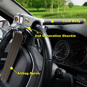 Foldable Car Steering Wheel Anti Theft Three Direction Security Lock Universal
