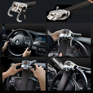 Universal Car Steering Wheel Anti theft Three direction Security Lock Foldable