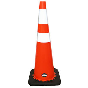 6 Pack 36 Rk Orange Safety Pvc Traffic Cone Black Base W 2 Reflective Tape
