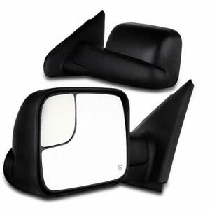 Pair For 2002 08 Dodge Ram 1500 03 09 2500 3500 Power Heated Tow Mirrors Flip Up
