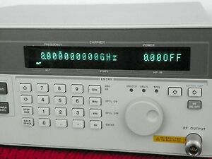 Agilent Hp 83711b Synthesized Cw Signal Generator 1ghz To 20ghz Opt 1e1 Nist