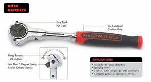 Kd Tools Gearwrench 81223 2 Piece Cushion Grip Roto Ratchet Set 1 4 And 3 8