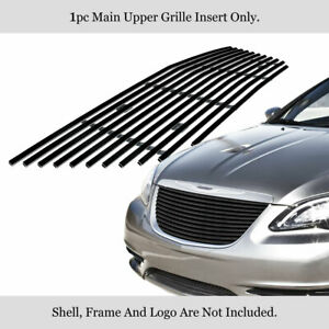 Fits 2011 2014 Chrysler 200 Main Upper Stainless Black Billet Grille Insert