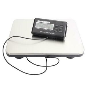660lbs Lcd Digital Floor Bench Scale Postal Platform Shipping pet 300kg Weigh