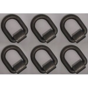 6 1 X 3 D ring W Weld On Clip For Flatbed Truck Trailer 47 000 Lb Rated Mbs
