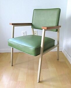 Minty Vtg Steelcase Mid Century Industrial Mod Green Office Side Captain S Chair