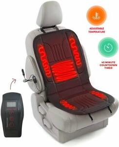 Zento Deals 12v Heated Car Seat Cushion Premium Comfortable Heating Pad With Sec