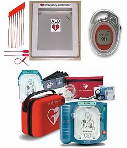 Philips Onsite Heartstart Aed Defibrillator W Outdoor Box 911 Emergency Phone