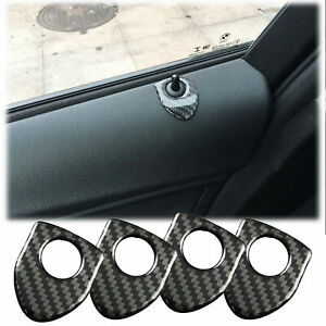 4pc Shield Style Carbon Fiber Door Lock Pin Sticker Decor Decal Trim For Bmw X3