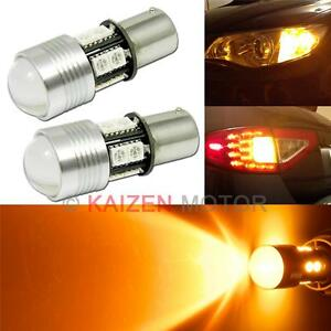 2x 1156 7506 7507 Amber Led 10 smd Turn Signal Light Projector Bulbs z12a