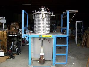 54 Gallon Walker Stainless Steel Jacketed Tank 25 Cu Ft T304 Furnace
