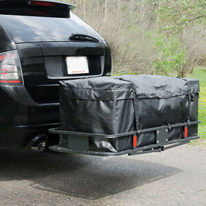 60 X20 Cargo Carrier Basket Foldable Hitch Mount 2 Inch Basket With Bag Kit