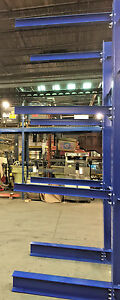 Used Cantilever Structural I Beam 12 Tall Lumber Rack Steel Rack Tree Rack