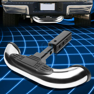 1 25 2 stainless Steel Trailer Hitch Receiver Cover rear Bumper Step Bar Guard