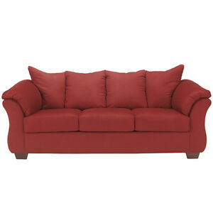 Ashley Design Darcy Upholstered Living Room Sofa Couch In Salsa Fabric