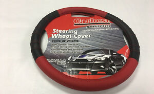 Steering Wheel Cover Universal Fit Car Truck Red Black