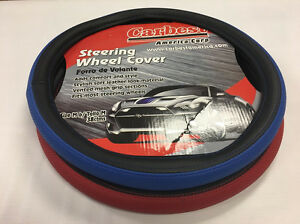 Steering Wheel Cover Universal Fit Car Truck Blue Black