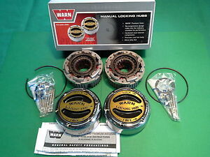 Warn Premium Manual Locking Hubs 20990 Ford Chevy Jeep Dana 44 Spicer 19 Spline