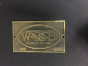 New Waterloo Boy Etched Brass Tag Antique Hit Miss Gas Engine