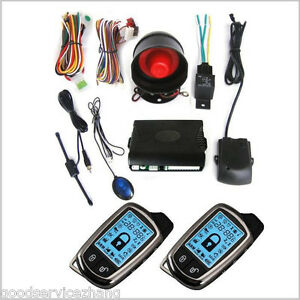 Car Security Alarm System Set kit W siren lcd Pager Anti theft