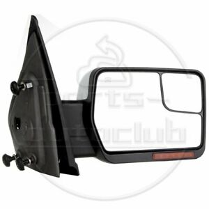 For 2007 2014 Ford F 150 Power Heated Puddle Signal Chrome Rh Side Mirror