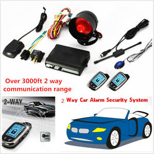 Universal Car Alarm Security System 2way Lcd Long Distance Controlers Anti theft