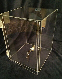 Summer Special acrylic Countertop Display Case 10x10x16 5 revolve Avail