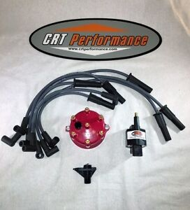 Jeep Cherokee Tune Up Ignition Upgrade Kit Xj 1998 1999 4 0l 242 Red Cap New
