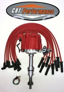 Big Block Ford Hei Distributor 351c 351m 400 429 460 Red Spark Plug Wires Usa