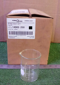 8 New Kimble 14005 250 Heavy Duty Glass Beakers 250ml Nib Make Offer