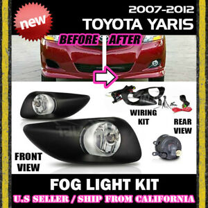 complete Fog Light Kit For Toyota 07 08 09 10 11 12 Yaris Switch Wiring Covers