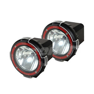2pcs 7inch Xenon Hid Work Light 55w 12v Spot Beam Atv Offroad Boat Suv Fog Lamp