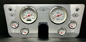 1967 1968 1969 1970 1971 1972 Chevy Truck 6 Gauge Dash Panel 5 White