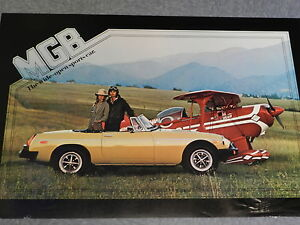 Large British Leyland Dealer Poster Mgb Wide Open Sports Car 36 Years Old Gift
