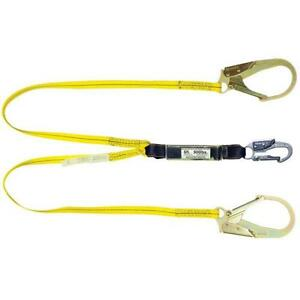 4 Fall Protection Lanyard Shock absorbing Safety Equipment Harness Hooks Nylon