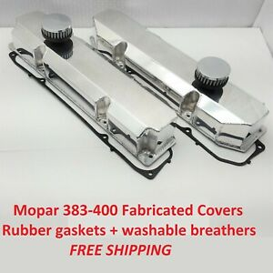 383 440 Mopar Fabricated Valve Covers Aluminum Big Block Dodge Chrysler Kit