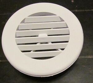4 White Round Rotaire Grille Heat Covered Screws Outlet Vent 3940wh Rv Trailer