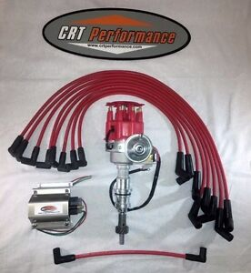 Small Block Ford 289 302 Red Small Hei Distributor Red 60k Coil Plug Wires